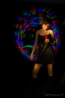 JOWS-Fotografie: Light-Art-Portrait mit Rose